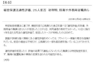 東京新聞 (2015年12月4日)