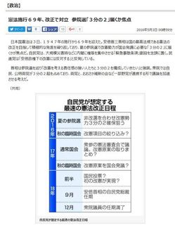 東京新聞・共同通信 (2016年5月3日)